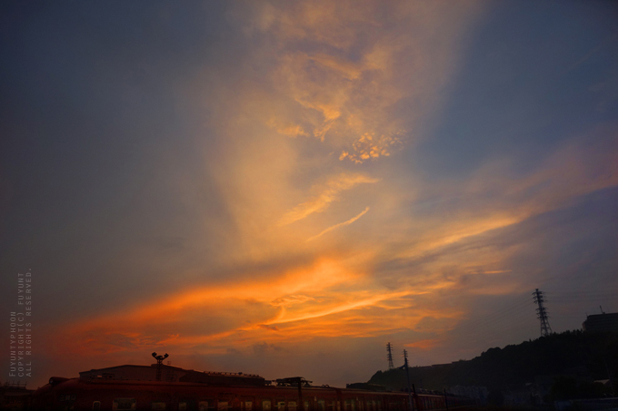 yokosuka, Japan, sunset, summer, sky, (h)fuyunt