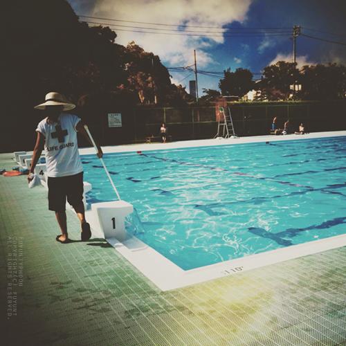 yokosuka, Japan, pool, summer, sky, (h)fuyunt